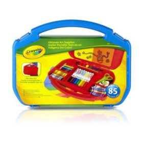 CRAYOLA 85PC ART SUPPLY CASE