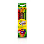 CRAYOLA 12 ERASABLE TWISTABLE PENCILS