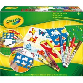 CRAYOLA STENCIL & PENCIL (KIT)
