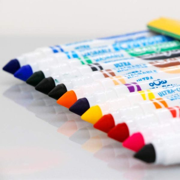 CRAYOLA 12 ULTRACLEAN BROAD MARKERS