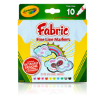 CRAYOLA 10CT FINELINE FABRIC MARKERS