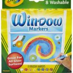 CRAYOLA 8 WINDOW MARKERS