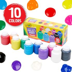 CRAYOLA 10CT WASHABLE KIDS PAINT