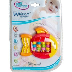 SOFT BEGINNINGS WHIZZY  RATTLE TEETHER- ROLLER FISH