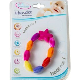 SOFT BEGINNINGS HANDY RATTLE-HEART & BEADS