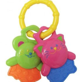 SOFT BEGINNINGS TAG ALONG FUNKEY ANIMALS TEETHER  RING