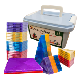 Magnetex Magnetic Tiles - 48 Piece