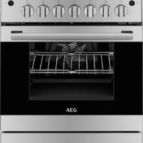 AEG 10366MM-MN 600mm Stainless Steel 4 Burner Gas/Electric Freestanding Oven