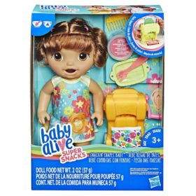 HASBRO® BABY ALIVE - SNACKIN SHAPES BABY BROWN HAIR