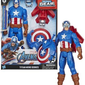 HASBRO® MARVEL - AVN TITAN HERO BLAST GEAR CAPTAIN AMERICA