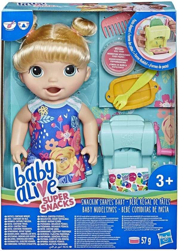 HASBRO® BABY ALIVE - SNACKIN SHAPES BABY BLONDE HAIR