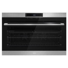 AEG BEK722910M 900mm Stainless Steel Eye Level Oven