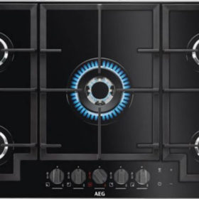 AEG HKB95540NB 900mm Black 5 Burner Gas On Glass Hob